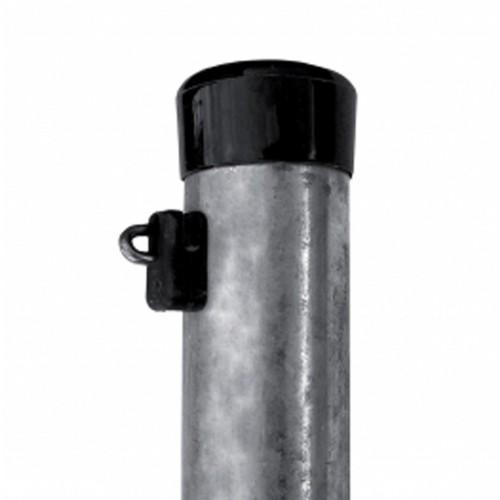 Plotový stĺpik Zinok MAT Ø 48 mm s príchytkou napínacieho drôtu